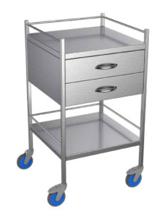 Nimble Blue Shoes medical storage trolley